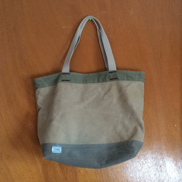b78deb82f Toms Bags | Heavy Canvas Large Tote Bag Army Olive Green | Poshmark